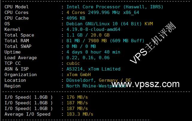 locvps:简单评测荷兰cn2 gia vps,三网强制回程cn2 gia附评测数据: